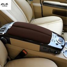 1 Набор автомобильных наклеек для 2004-2008 BMW E65 730 740 из микрофибры, автомобильные аксессуары, Защитная крышка для подлокотника
