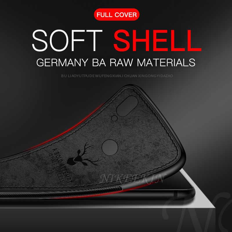 الغزلان القماش Textrue الوفير السيليكون جراب لهاتف VIVO X50 S6 S5 X30 X23 X27 Z1 برو X21 X9S X7 X6 زائد Z3i Z3X Z5X غطاء هاتف بولي يوريثان حراري ناعم