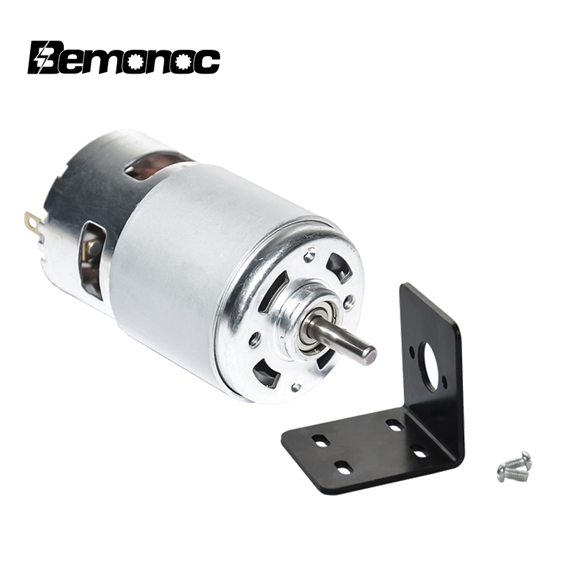 775 DC Motor DC 12V 24V 5000 10000 12000 RPM Ball Bearing Large Torque High Power Low Noise Hot Sale Electronic Component Motor