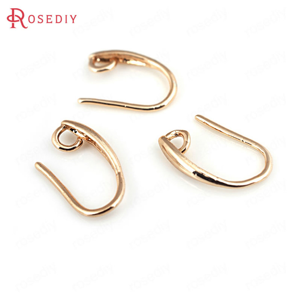 2pc Gold charms Real 18K Gold plated 16x8mm Brass earrings charm findings G017