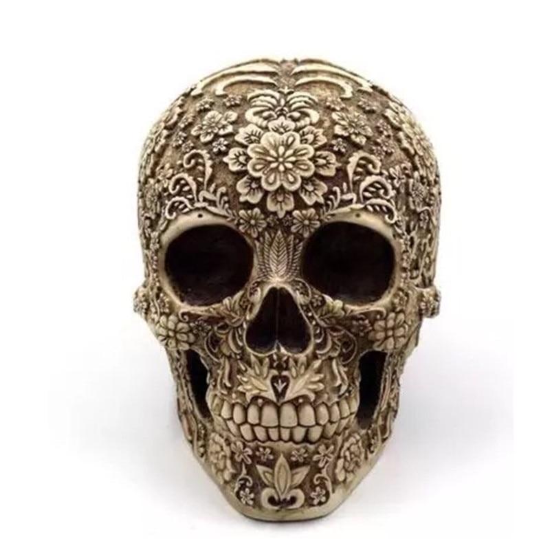 Resin Craft Skull Statues & Sculptures Garden Statues Sculptures Skull Ornaments Creative Art Carving Statue M4465|Statues & Sculptures| |  - title=