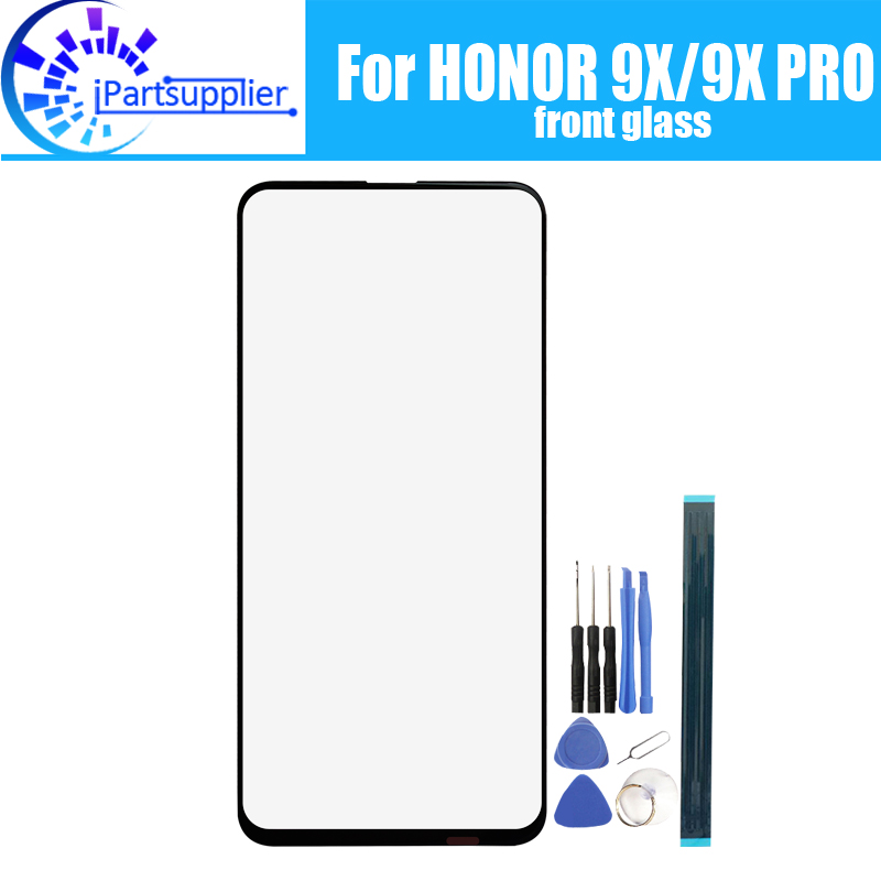 For Huawei HONOR 9X Front Glass Screen Lens 100% Original Front Touch Screen Glass Outer Lens For Huawei HONOR 9X PRO Phone
