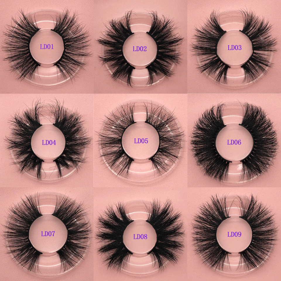 Makeup 25mm Mink Lashes False Eyelashes 5D Mink Lashes Dramatic Full Strip Lashes 3D Mink Eyelashes Extension Cruelty Free Mink