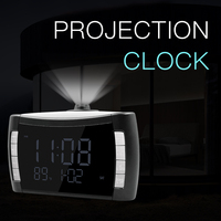 Digital alarm clock wake up light projection clock Colorful LED Display Time Digital Alarm Clock With USB can put battery clock