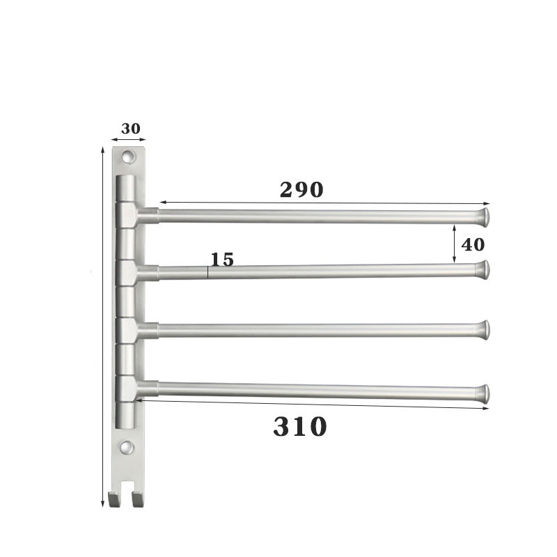 Bathroom Shelf For Alumimum Rotating Bar Hole Punched Multi-functional Storage Wall Mount Towel Mount Corner Shelf