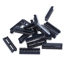 Sodial (R) 17 Pcs X 28 Pin Dip Ic Sockets Adapter Solder Type Socket(China)