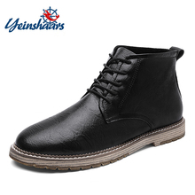 YEINSHAARS New Autumn Men Boots Winter High Tops Man Casual Ankle Boot Comfortab