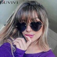 Fashion Heart Shape Sunglasses Rimless Flower Glasses Women Fashion Brand Design
