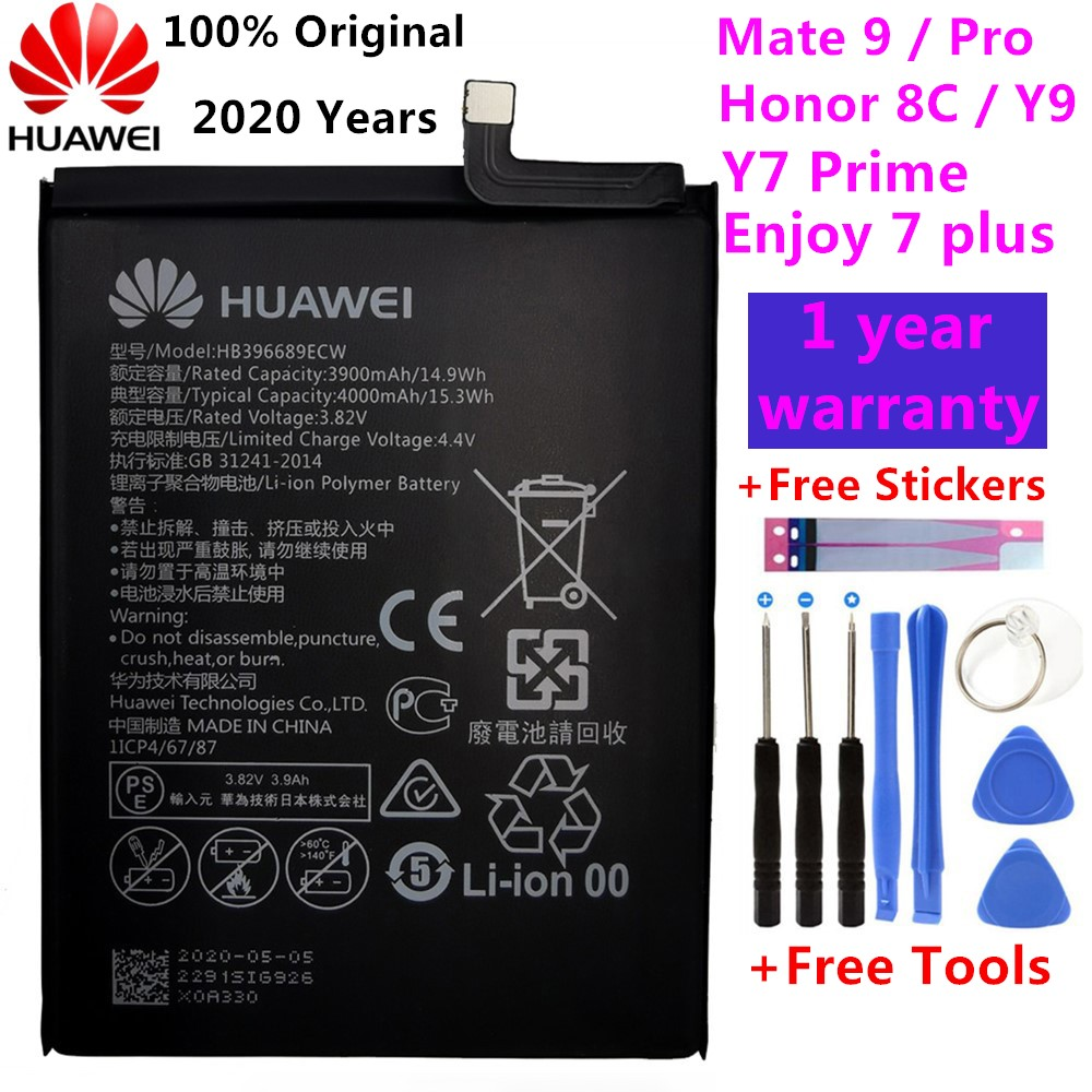 Original Replacement Phone Battery For Huawei Mate 9 Mate9 Pro Honor 8C Y9 2018 Version HB396689ECW Rechargeable Battery 4000mAh