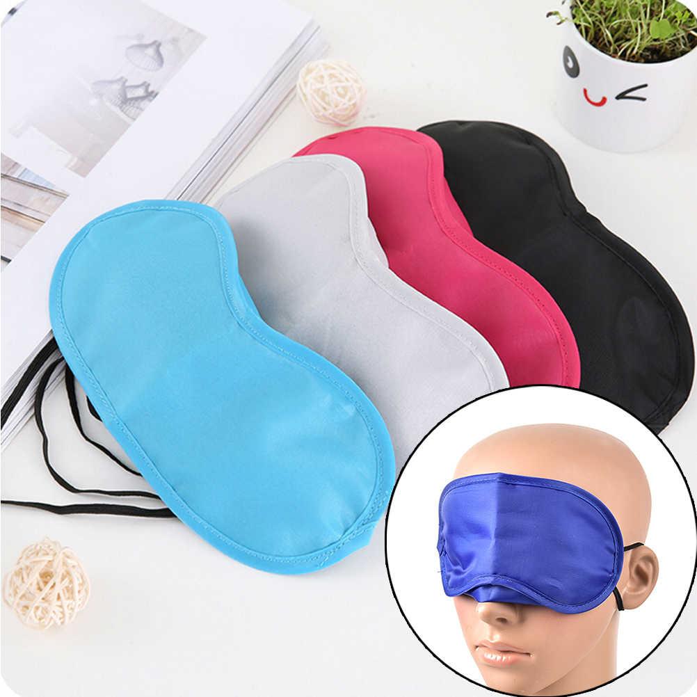 Sıcak 1 adet seyahat uyku istirahat uyku yardım maskesi göz bandı kapağı konfor körü körüne kalkan maskeleri sıcak!
