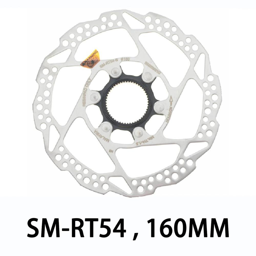 1x SHIMANO SM RT54 S 160MM Brake Disc MTB with Lock for SLX LX DEORE