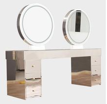 Парикмахерская магазин двойная сторона четыре сторона зеркало с лампой парикмахерская салон специальный зеркало