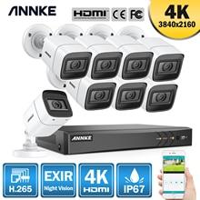ANNKE 4K 8CH Ultra HD CCTV Camera System H.265 DVR Kit 8PCS 8MP TVI IP67 Outdoor Home Video Security Surveillance System Kit