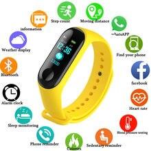 Фитнес m3 цветной экран умный спортивный браслет для занятий