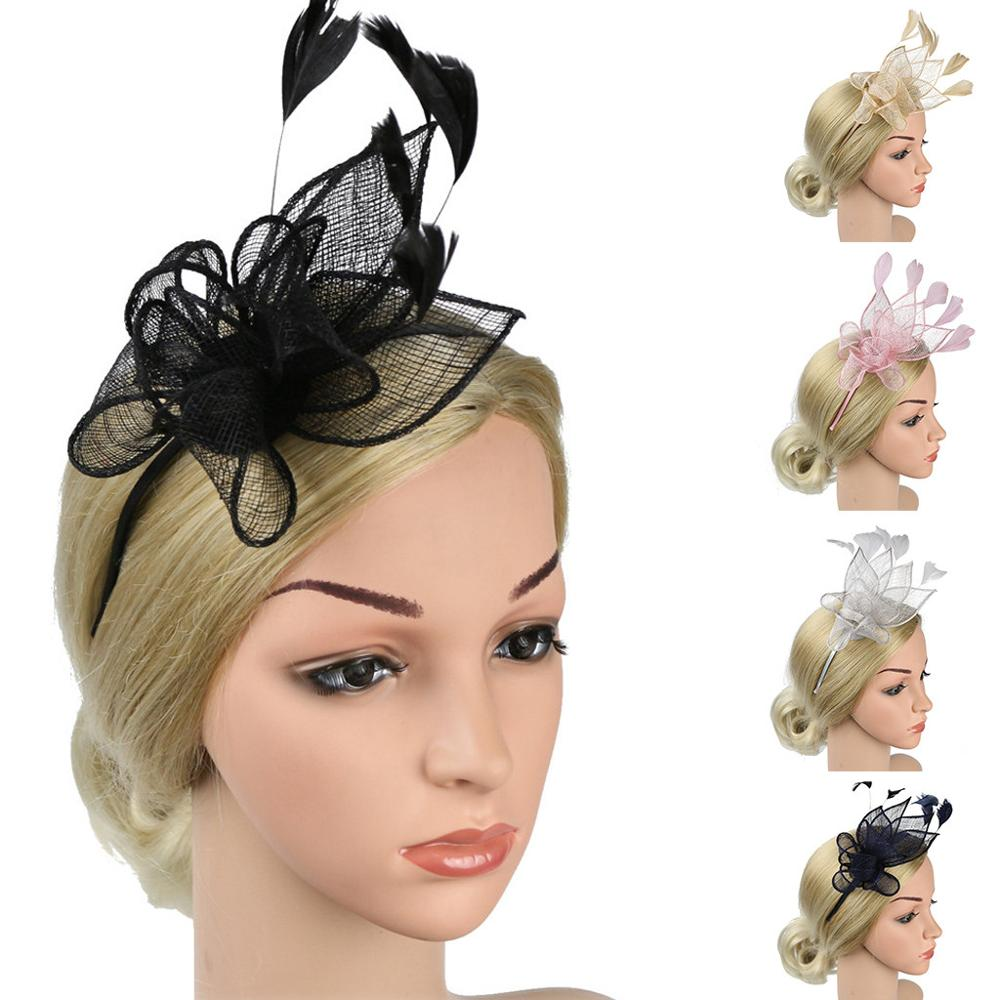 Women's Party Hat Hair Clip Headband Accessory 2019 NEW Christmas Bridal Wedding Hair Accessories