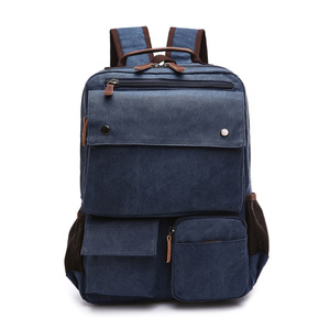 Image 5 - High Grade Canvas Backpack Men Solid Color Laptop Bags 15.6inch Superior Vintage Outdoor Design Durable New Trend Classic