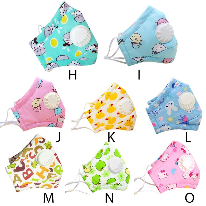 Winter Children Kids Dustproof Washable Cotton N95 Mouth Mask Cartoon A69C