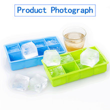 Cavity Ice Cube Tray Honeycomb Ice Cube Mold Food Grade Flexible Silicone Ice Molds for Whiskey Cocktail Square Shape 8 holes
