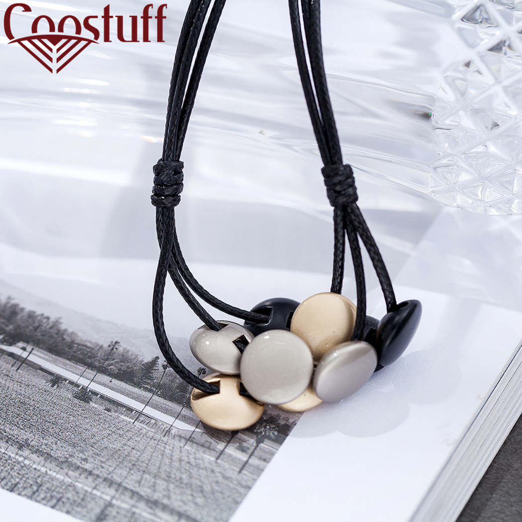 Fashion Collar Neckless Women's Jewellery Round Button Pendant Jewelery Long Necklace For Valentine's Day Gift Friends