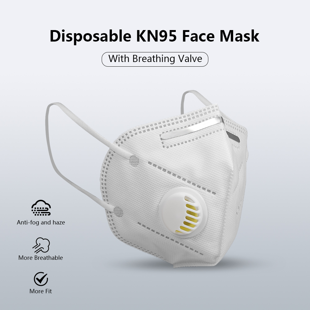 50pcs 95% Filtration Face Mouth Covering Maskes 5 Layers Reusable Respirator Ffpp2 Facemaskes With Filters