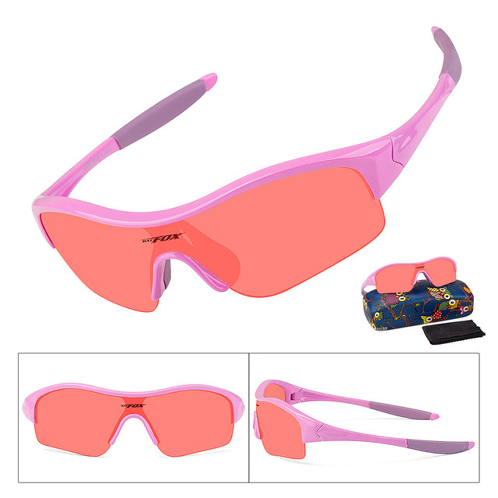 BATFOX Kid Bicycle Silica Soft Sunglasses Flexible Safety Frame Shades For Boy Girl Child Baby Sun Glasses UV400 Eyewear Shade|Cycling Eyewear| |  - title=