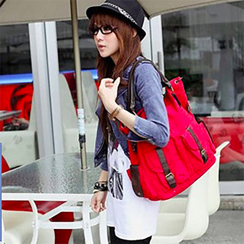 Image 3 - Bolsas Feminina 대용량 포켓 캐주얼 토트 여성 핸드백 숄더 백 캔버스 가죽 용량 여성용 비치 가방 2019숄더 백수화물 & 가방 -
