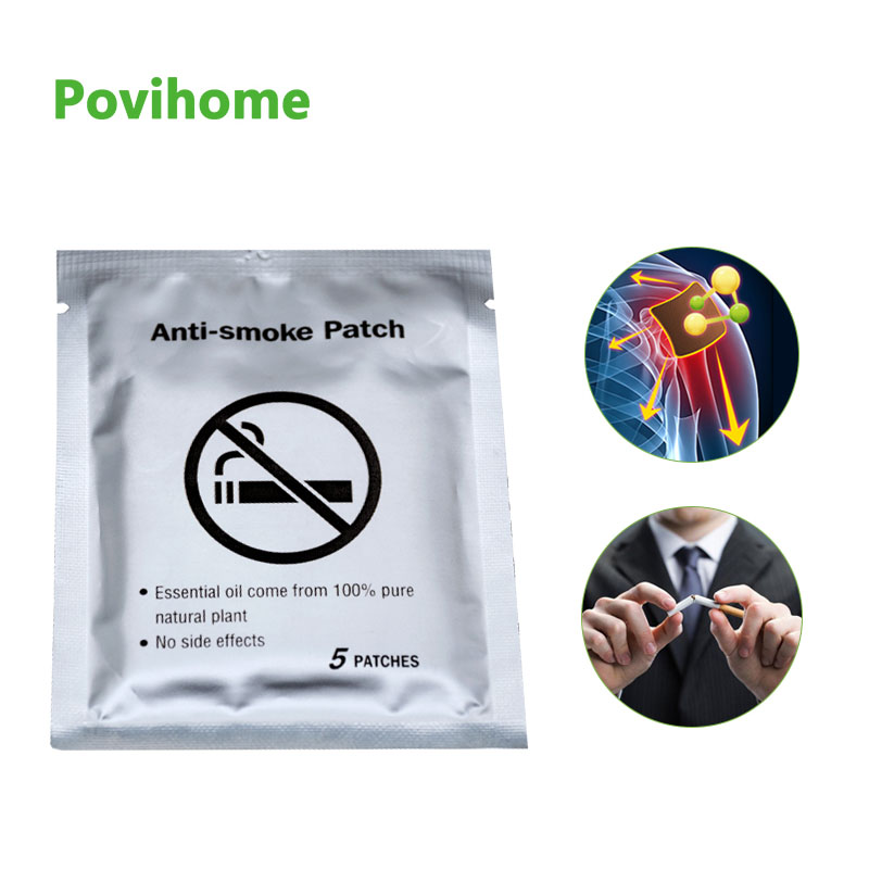 5pcs 100% Natural Ingredient Anti Smoke Patch Stop Quit Smoking Cessation Chinese Herbal Medical Plaster Health Care C1644