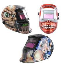 Solar Auto Darkening Flame Welding Helmet ARC TIG MIG Mask Welder Machine(China)
