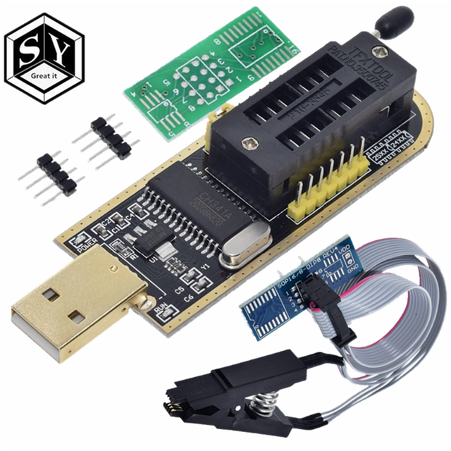 1PCS EEPROM Flash BIOS USB Programmer with Software & Driver