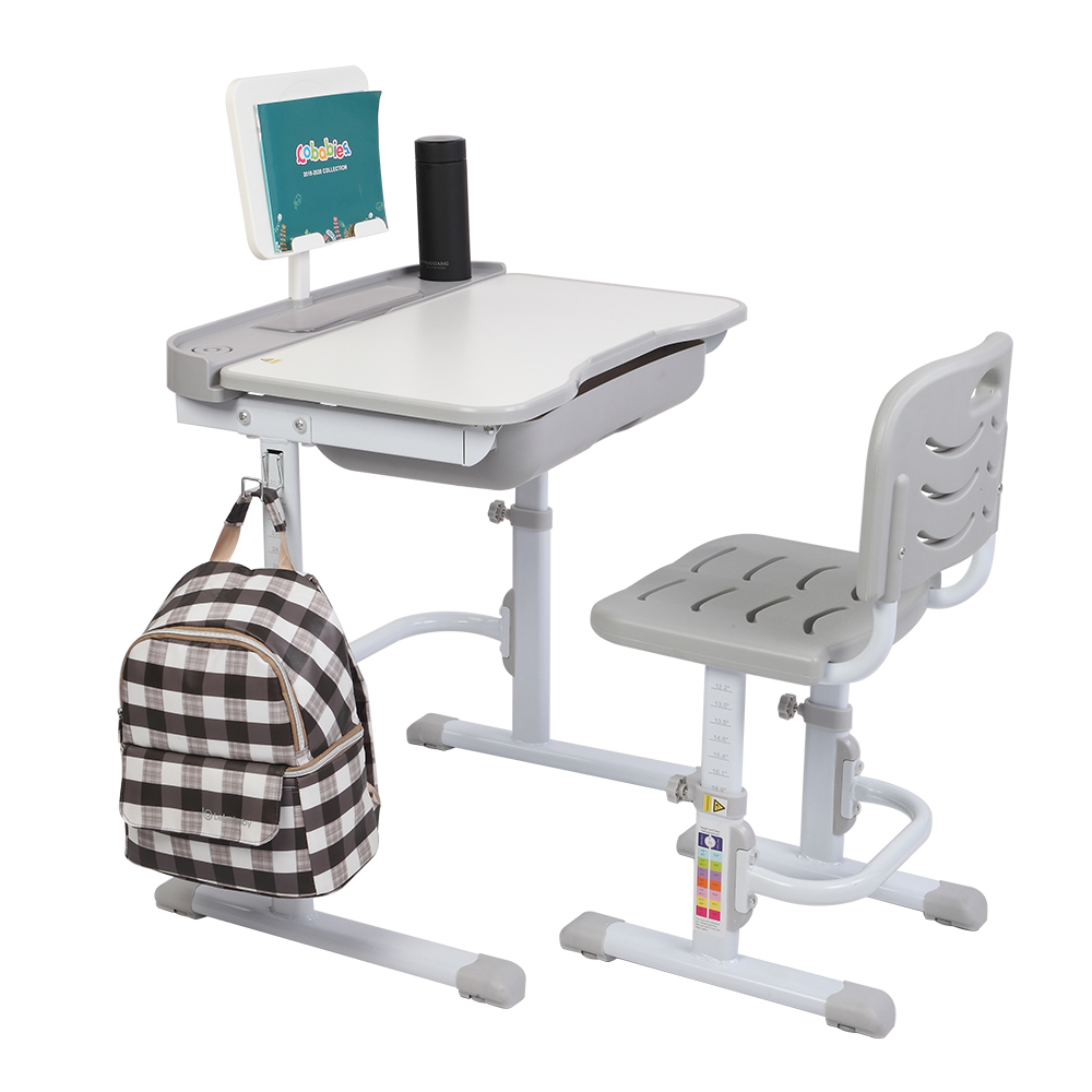 Adjustable Kid's Study Desk Chair Set Tiltable Multifunctional Children Activity Art Table Set Children Learning Table And Chair