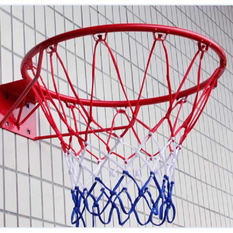 Standardowe sporty outdoorowe siatka do koszykówki nylonowa nić obręcz do koszykówki siatka tablica obręcz piłka Pum 12 pętli sprzęt do koszykówki