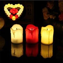 1 шт. светодиодный светильник-Свеча на батарейках, чайный светильник, имитирующий цвет пламени, мигающие свечи для украшения дома, свадьбы, дня рождения, вечеринки