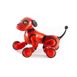 Nette Interaktive Intelligente Hund Elektronische Haustiere RC Roboter Hunde Stand Spaziergang Roboter Spielzeug Intelligente Drahtlose Elektrische Spielzeug BOX VERPACKUNG