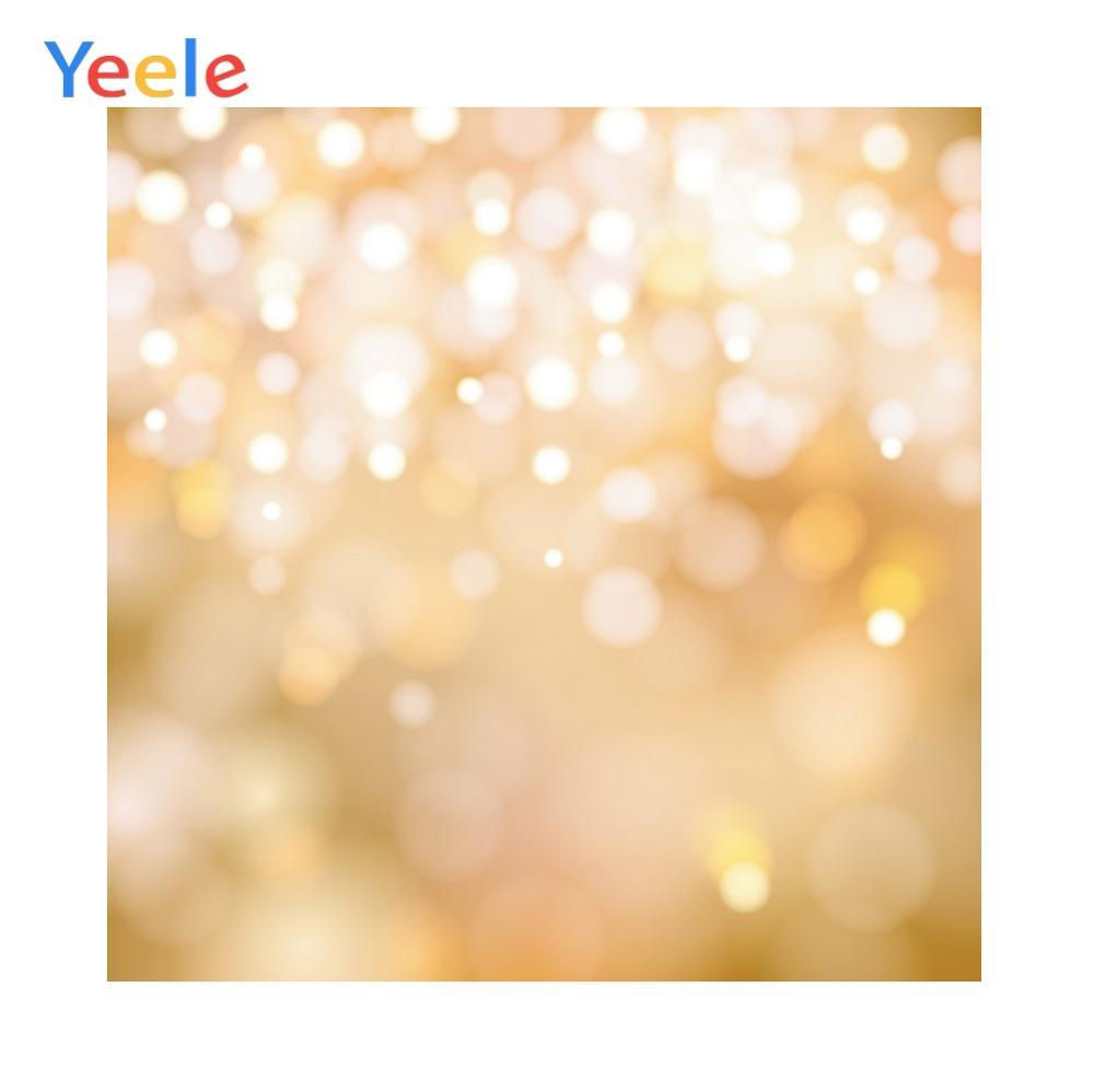 Yeele Shiny Yellow Dot Light Bokeh Baby Child Portrait Photo Backdrop Personalized Photography Background for Photo Studio