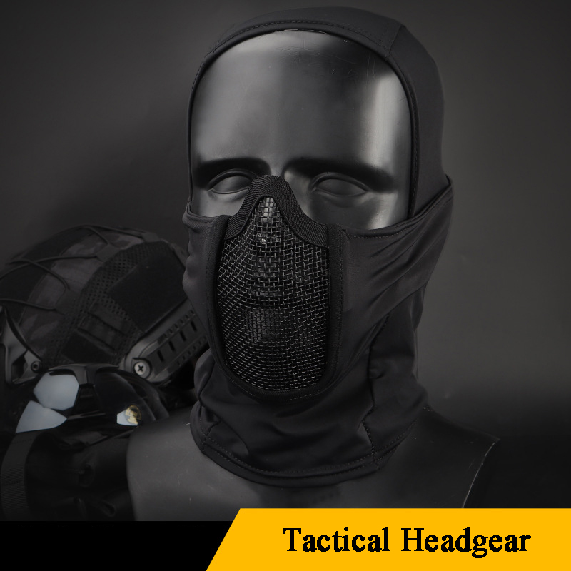 Outdoor Tactical Hunting Mask Protective Shooting Military Headgear Mask For Paintballs Breathable Lightweight Airsoft Cs Masks