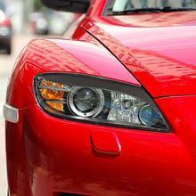 Аксессуары для стайлинга автомобилей подходит для Mazda RX8 Coupe 2004-2008 передняя фара с козырьком из углеродного волокна