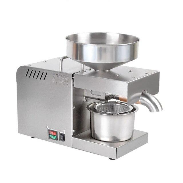 110/220V Oil presser 610W Household stainless steel Oil press machine Peanut oil maker use for Sesame/Almond/Walnut