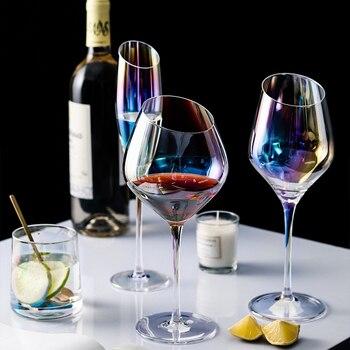 Rainbow Lon Plated Wine Glasses 1