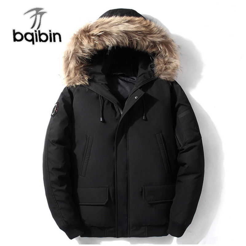 2019 Winter New Men's Down Jacket Clothing High Quality Casual Big Fur Collar Short Jacket Duck Down Coat Male Brand Clothes