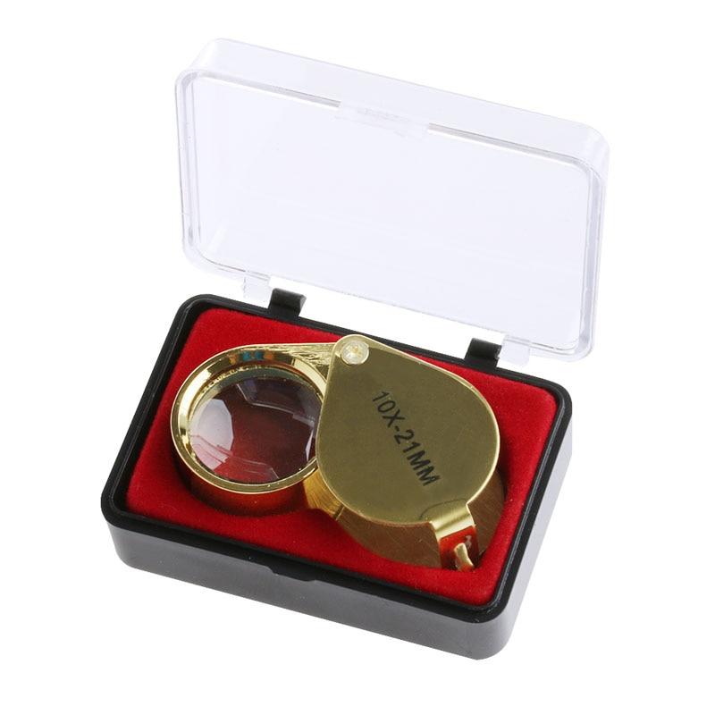 10X 21mm Mini Triplet Jeweler Eye Loupe Magnifier Magnifying Glass Jewelry Diamond