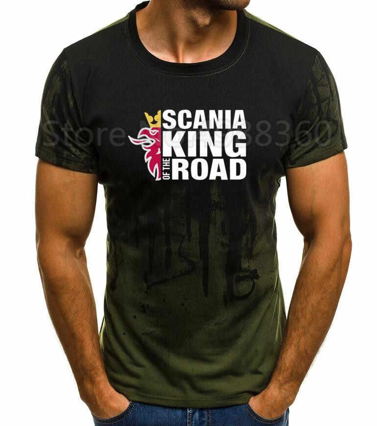 T-Shirt adam kısa kollu % 100% pamuklu klasik 2019 sınırlı sayıda T Shirt Scania V8 Sporter araba T Shirt baskı