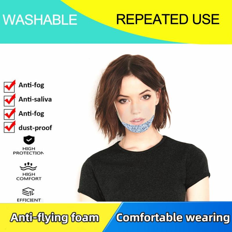 HOT Face Shield For Adults makeup Accessories Anti-UV Transparent Plastic Air Mask Face Protector Half Face Cover Dropshipping