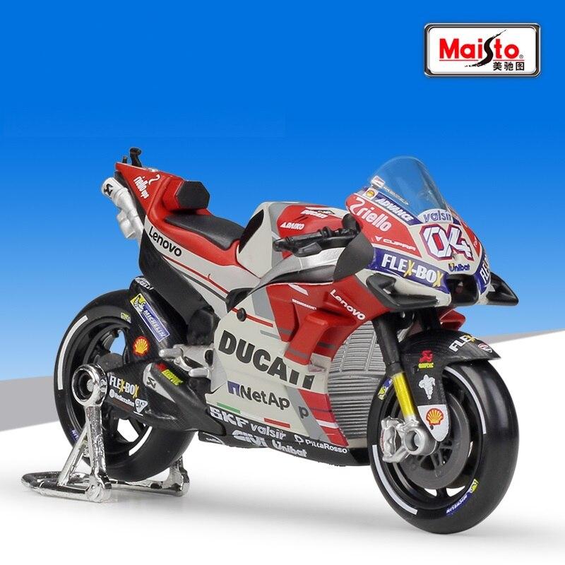 Maisto 1:18 DUCATI Desmosedici GP18 #04 Andrea Dovizioso Racing Die Cast Motorcycle