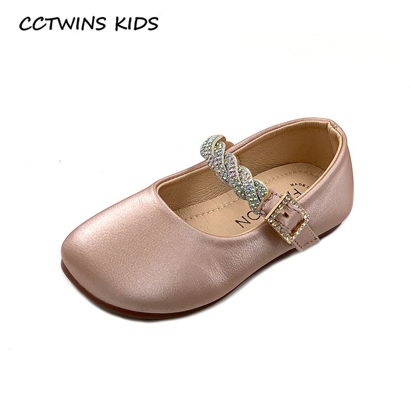CCTWINS Kids Shoes 2020 Autumn Fashion Princess Flat Children Rhinestone Mary Jane Baby Girls Brand Party Shoes GM2704