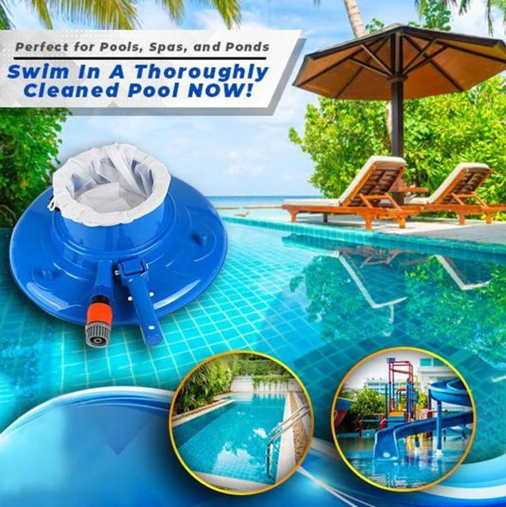 Leaf Skimmer Net vacuum Swimming Pool Leaf Catcher Fine Mesh Swimming pool suction head Pool bottom leaf collection cleaner 23p2(China)