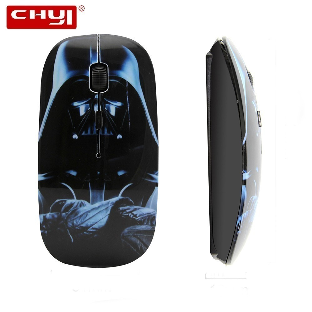 Star Wars Wireless Deathadder 3D Computer Mouse Optical Usb 2.4Ghz Ultra Thin Ergonomic Mause Cartoon PC Mice For Laptop Macbook
