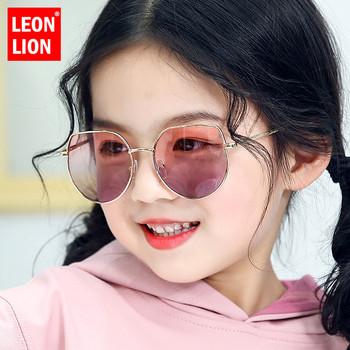 LeonLion okulary przeciwsłoneczne Cat Eye dzieci śliczne okulary przeciwsłoneczne dla dzieci luksusowe markowe okulary dla dziewczynek chłopców lustro Oculos De Sol Feminino tanie i dobre opinie CN (pochodzenie) Dziewczyny ROUND ALLOY Gradient Anti-odblaskowe UV400 50mm Akrylowe Sunglasses GD3002 55mm Round face Long face Square face Oval shape face