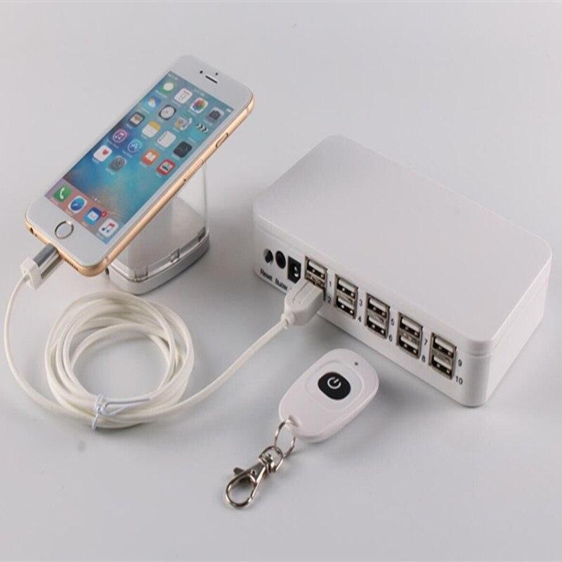 2020 Новое прибытие пульт дистанционного управления 10 портовый мобильный телефон розничный магазин дисплей Счетчик EAS сигнализация зарядка