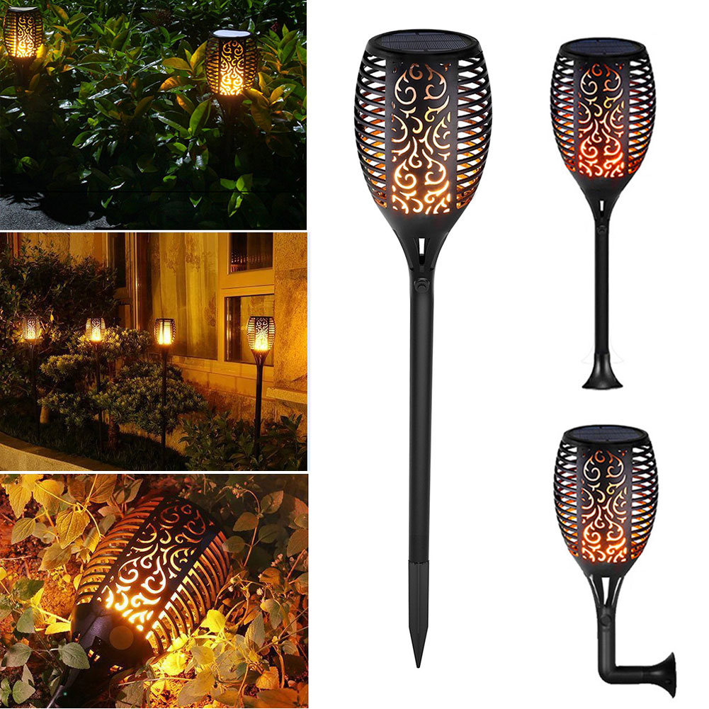 96 LED Solar Light Flickering Flame Lawn Decoration Landscape Waterproof Pathway Torch Dancing Garden Lamp Outdoor Spotlight