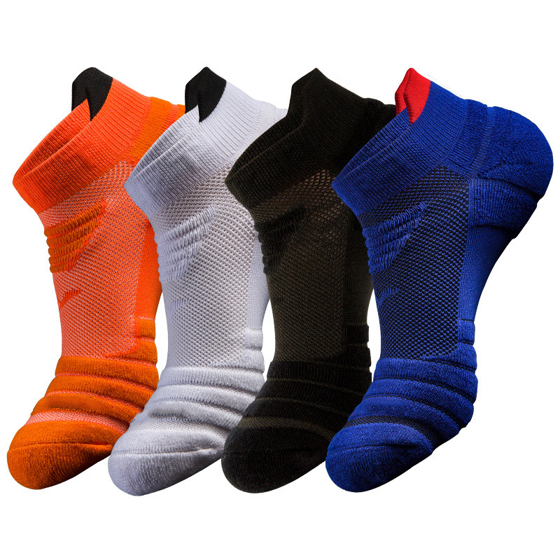 Men Basketball Running Socks Breathable Anti-slip Sport Hiking Cycling Walking Outdoor Sock Cotton Athletic No Sweat Socks